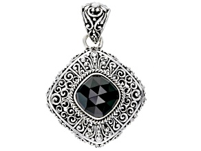 Black Spinel Silver Pendant 5.68ct