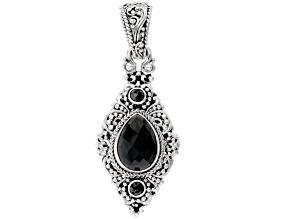 Black Spinel Silver Pendant 6.04ctw