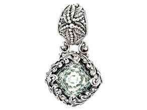 Green Prasiolite Sterling Silver Pendant 4.50ctw