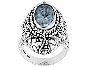 Sky Blue Topaz Silver Ring 3.40ct