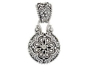 White Diamond Sterling Silver Pendant .06ct