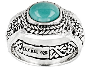 Mexican Turquoise Silver Band Ring