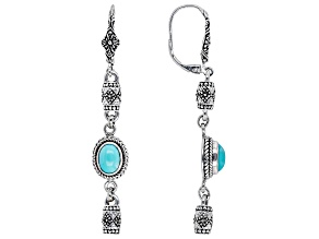 Mexican Turquoise Silver Dangle Earrings