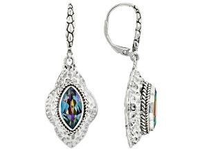 Fire & Ice™ Quartz Silver Earrings 2.90ctw