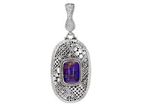 Purple Mohave Turquoise Silver Enhancer Pendant