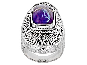 Purple Mohave Turquoise Silver Watermark Ring