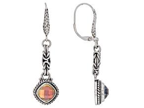 Zero Mercury™ Quartz Sterling Silver Hammered Earrings 3.60ctw