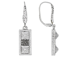 """Silver Adair """"Strong Foundation III"""" Hammered Earrings"""