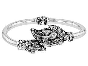 "Silver ""New Vines Abound Leaves"" Bracelet"