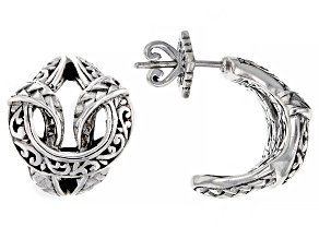 """Silver """"Pray For One Another II"""" Filigree & Weave Earrings"""