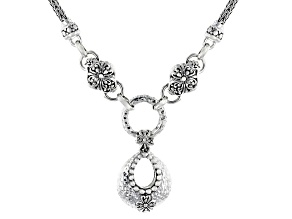 """Silver Adair """"You Are Valued"""" Hammered Necklace"""