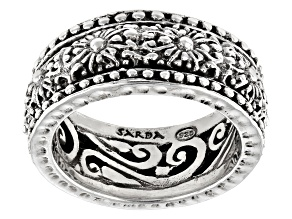 """Silver Adair """"You Are Valued"""" Hammered Spinner Ring"""