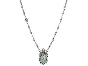 Green Variscite Sterling Silver Necklace