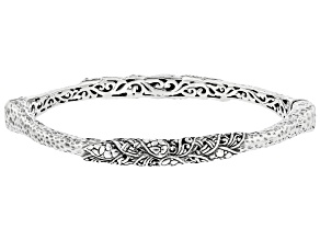 Sterling Silver Tree Of Life Bangle Bracelet