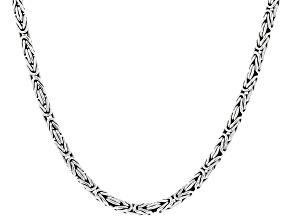 "Sterling Silver 16"" Byzantine Chain"