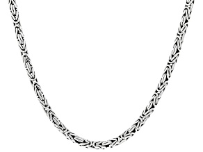"Sterling Silver 20"" Byzantine Chain"