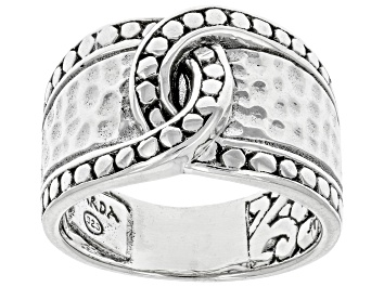 Picture of Sterling Silver Hammered & Jawan Band Ring