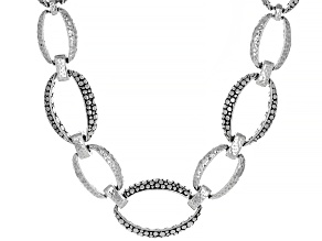 """Silver """"Overflow With Joy"""" Hammered Necklace"""