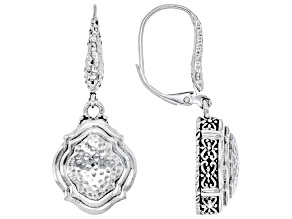"""Silver """"Passionate Prayer"""" Hammered Earrings"""