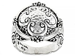 """Sterling Silver """"Seize His Moments"""" Hammered Ring"""
