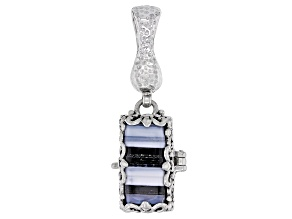 Blue Opal Silver Locket Enhancer Locket