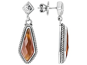 Red Carnelian Sterling Silver Earrings