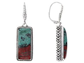 Multi-Color Chrysocolla Sanora Sterling Silver Earrings