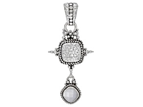 White Mother-of-Pearl Sterling Silver Pendant