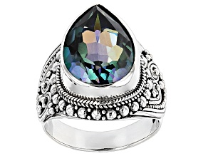 River Ride™ Mystic Quartz® Silver Ring 6.90ctw