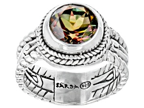 Carnival™ Quartz Sterling Silver Bamboo Ring 2.21ct