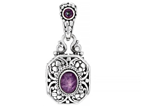 Red Star Ruby & Wildside™ Topaz Silver Pendant  .31ct