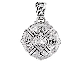 """Silver """"Reap What You Sow"""" Hammered Pendant"""