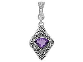 Purple Amethyst Silver Enhancer Pendant 4.68ct