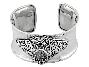 Moon Silver™ Drusy Quartz Silver Bracelet .44ctw