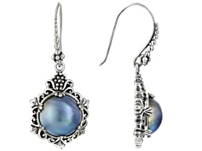 Pearl Mabe Silver Earrings