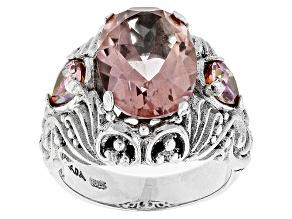 Sudsy Sells™ Mystic Quartz® Silver Ring 5.60ctw
