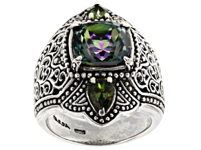 Sweet Gardenia™ Mystic Quartz® Silver Ring 3.90ctw