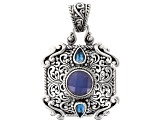 Blue Chalcedony Sterling Silver Pendant .90ctw