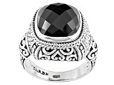 Black Spinel Silver Ring 5.50ct