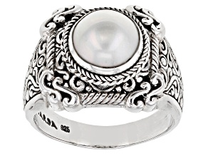 Pearl Mabe Silver Ring