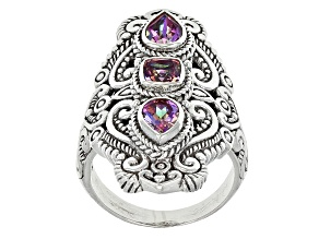Rascal Pink™ Mystic Topaz® Silver Ring 2.20ctw