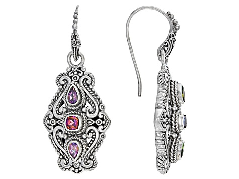 Rascal Pink™ Mystic Topaz® Silver Earrings 1.44ctw