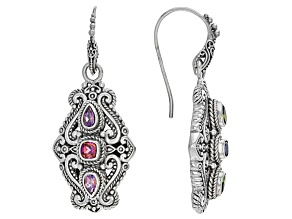 Rascal Pink™ Mystic Topaz® Silver Earrings 1.44ctw