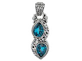 Blue London Quartz Triplet Silver Pendant 5.00ctw