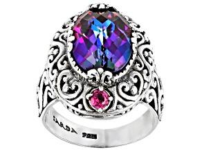 Xanadu™ Mystic Quartz® Silver Ring 4.84ctw