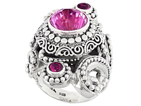 Pure Pink™ Mystic Topaz® Silver Ring 4.90ctw