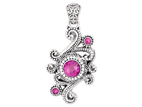 Pure Pink™ Mystic Topaz® Silver Pendant 4.90ctw