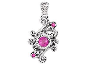 Pure Pink™ Mystic Topaz® Silver Pendant 4.90ctw