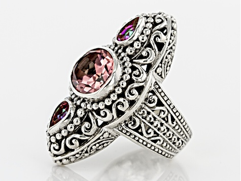 Always True Rose™ Mystic Quartz® Silver Ring 4.15ctw