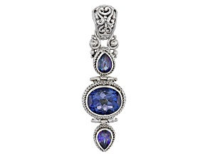 English Blue™ Mystic Quartz® Silver Pendant 4.65ctw